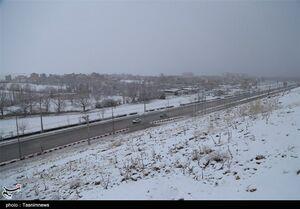 جادههای ۱۹ استان شاهد بارش برف و باران