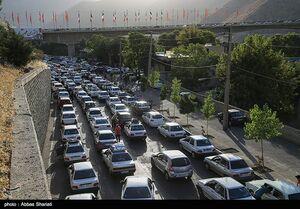 اعمال محدودیت ترافیکی جاده چالوس