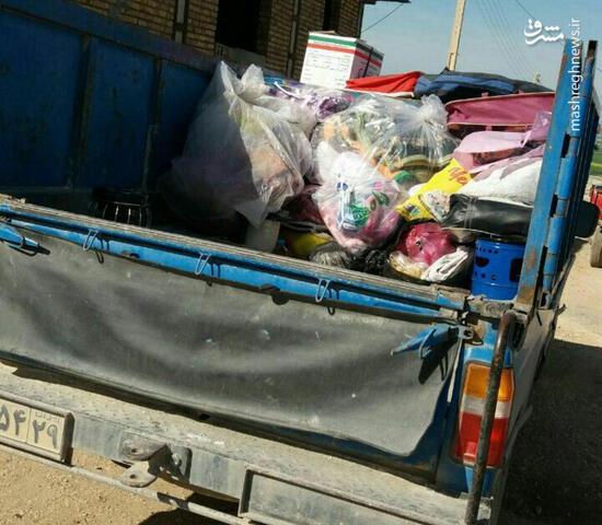 عکس/ کمک زلزله زدگان به سیلزدگان!