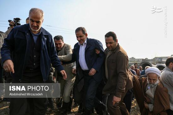 عکس/ بازدید جهانگیری از مناطق سیلزده مازندران