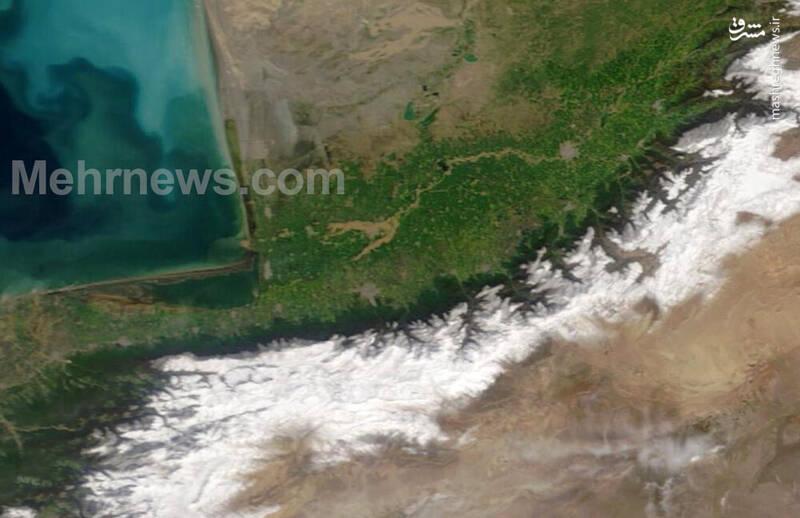 تصویر ماهواره از آق قلا سه روز پس از سیل