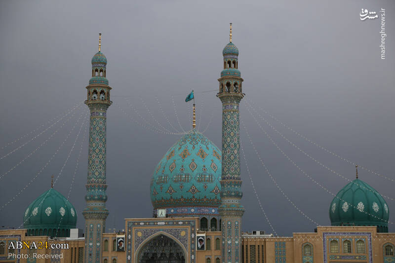 عکس/ حال و هوای مسجد مقدس جمکران در ایام نوروز