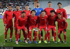 دیدار تیم های فوتبال امید ایران و یمن