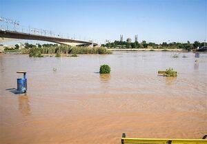 هشدار افزایش بیسابقه میزان آب رودخانه کارون