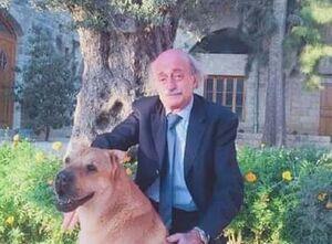 توییت ولید جنبلاط برای مرگ سگش! +عکس