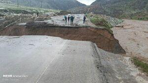 عکس/ تخریب جاده اصلی در خرمآباد
