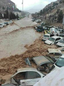 وضعیت وخیم شیراز هم اکنون! سیل