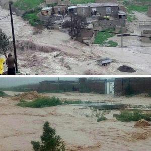 سیل در روستاهای #گیلانغرب کرمانشاه