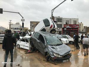 فیلم جدید از سیل مرگبار شیراز