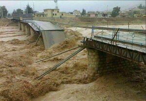 عکس/ تخریب پل اصلی شهر پلدختر