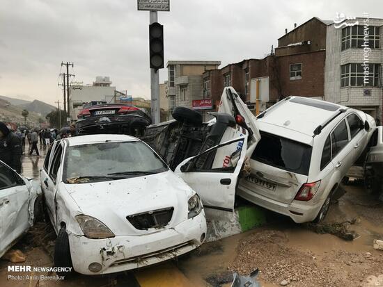 عکس/ خسارات سیل شیراز