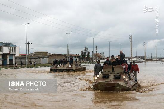 """عکس/ ورود نفربرهای آبی خاکی ارتش به """"آققلا"""""""