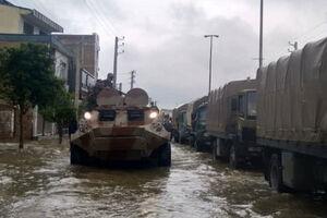 عکس/ ادوات زرهی ارتش در مناطق سیل زده