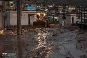 بازدید امام جمعه شیراز از مناطق سیل زده