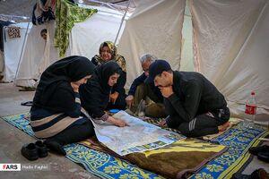 اسکان سیل زدگان در نمایشگاه بین المللی شیراز