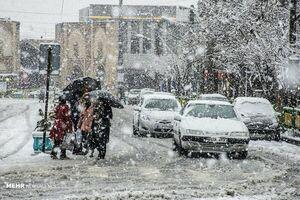 بارش برف بهاری در اراک