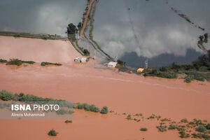 تصاویر هوایی از مناطق سیل زده کارون