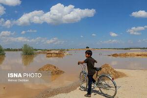 عکس/ بالاآمدن حجم آب رودها در شوشتر