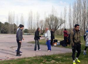 عکس/ سرمربی پرسپولیسی در تمرین استقلال