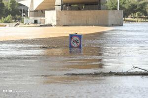 فیلم/ جاده ساحلی اهواز زیر آب رفت