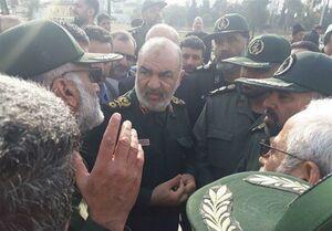 حضور سردار سلامی در مناطق سیل زده