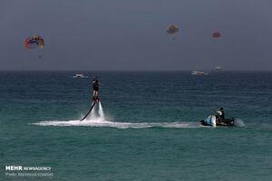 عکس/ مسافران نوروزی در نگین خلیج فارس