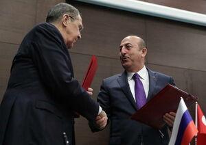 عکس/ دیدار وزرای خارجه روسیه و ترکیه