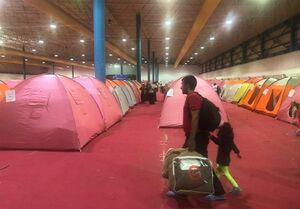 محل اسکان اضطراری سیلزدگان آققلا + عکس