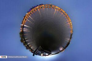 عکس/ سی و سه پل بر مدار 360 درجه