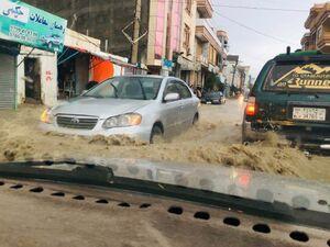 سیل به مزار شریف افغانستان رسید
