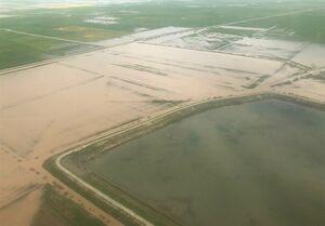 تصاویر هوایی آخرین وضعیت سیل در گمیشان