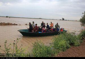 عکس/ سیلاب در مناطق روستایی اهواز