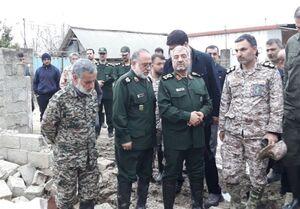 عکس/ بازدید فرمانده سپاه از مناطق سیلزده مازندران