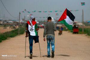 عکس/ تظاهرات جوانان فلسطینی در نوار غزه