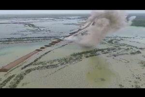 فیلم هوایی انفجار دژ مرزی خوزستان توسط سپاه