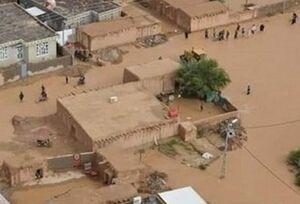فیلم/ غرق شدن یکی از روستاهای اهواز
