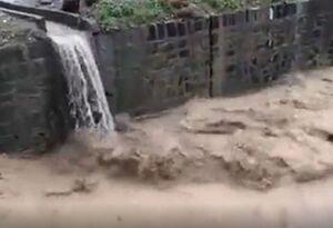 فیلم/ بالا آمدن آب رودخانه اراک