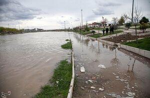 رودخانه قم در معرض خطر جدی سیل