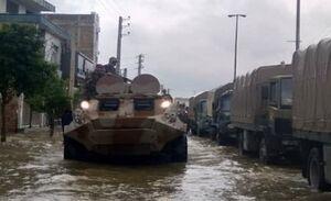 ارتش  باز هم به کمک مردم آمد