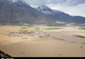 تصاویر هوایی از روستاهای سیلزده کرمانشاه