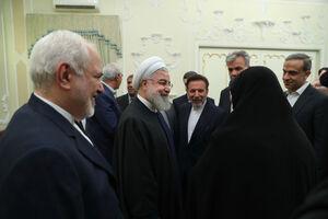 عکس/  دیدار جمعی از وزراء و مسئولان با روحانی