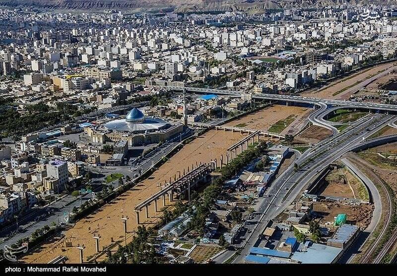 عکس هوایی از سیل اهواز