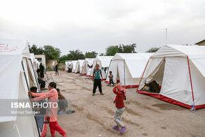 عکس/ اردوگاه اسکان اضطراری در خوزستان