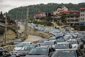 عکس/ ترافیک سنگین بازگشت مسافران نوروزی
