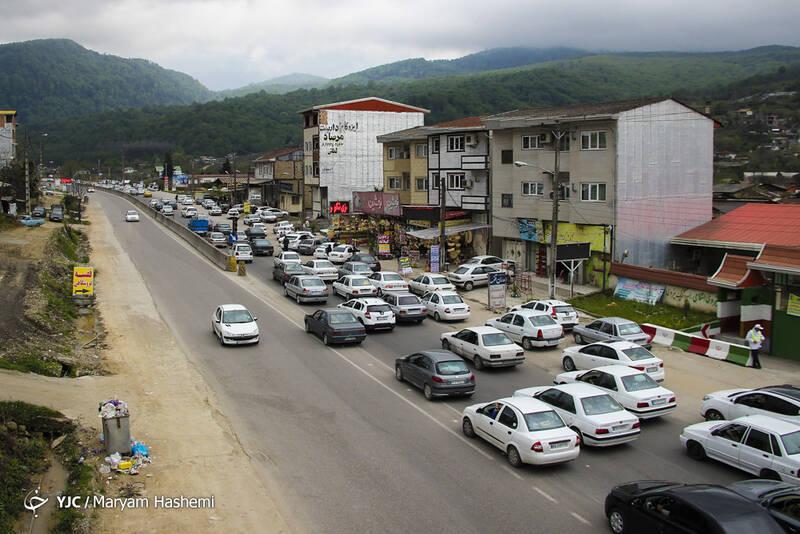 ترافیک سنگین بازگشت مسافران نوروزی