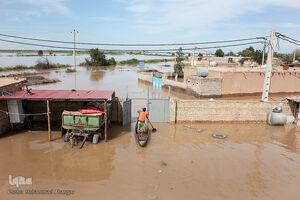 عکس/ روستاهای گرفتار در سیل خوزستان