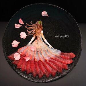 عکس/ این آثار هنری غذای محبوب ژاپنیهاست!