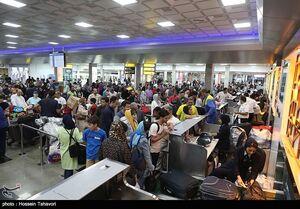 عکس/ فرودگاه کیش در آخرین روز تعطیلات نوروزی