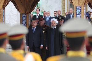 استقبال رسمی روحانی از نخست وزیر عراق