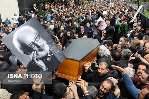 دزدی از بازیگران در مراسم تشییع جمشید مشایخی +عکس